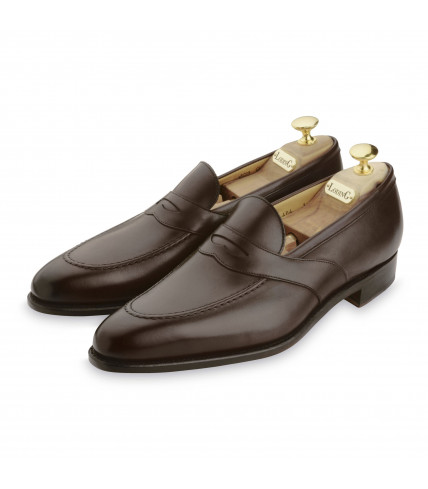Brown box Saddle loafers Penny 464