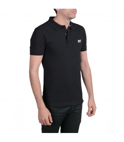 Polo shirt 100% cotton pique - Black / White