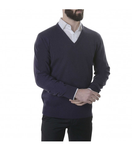 Pure cashmere sweater V neck