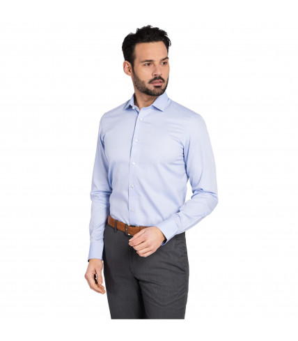 Plain Slim fit dress shirt 100% cotton