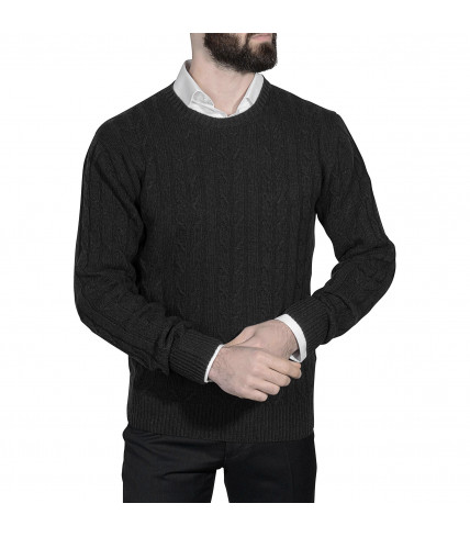 Wool and cashmere cable knit sweater