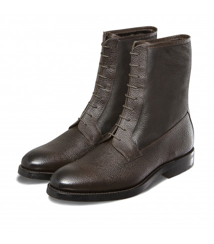 Bi-material balmoral lined dress boots Almaty 323