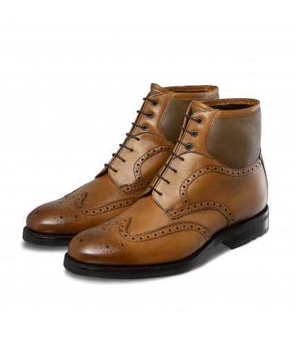 Bi-material Brogue lined dress boots Taimyr 378