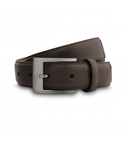 Smooth leather belt 30mm