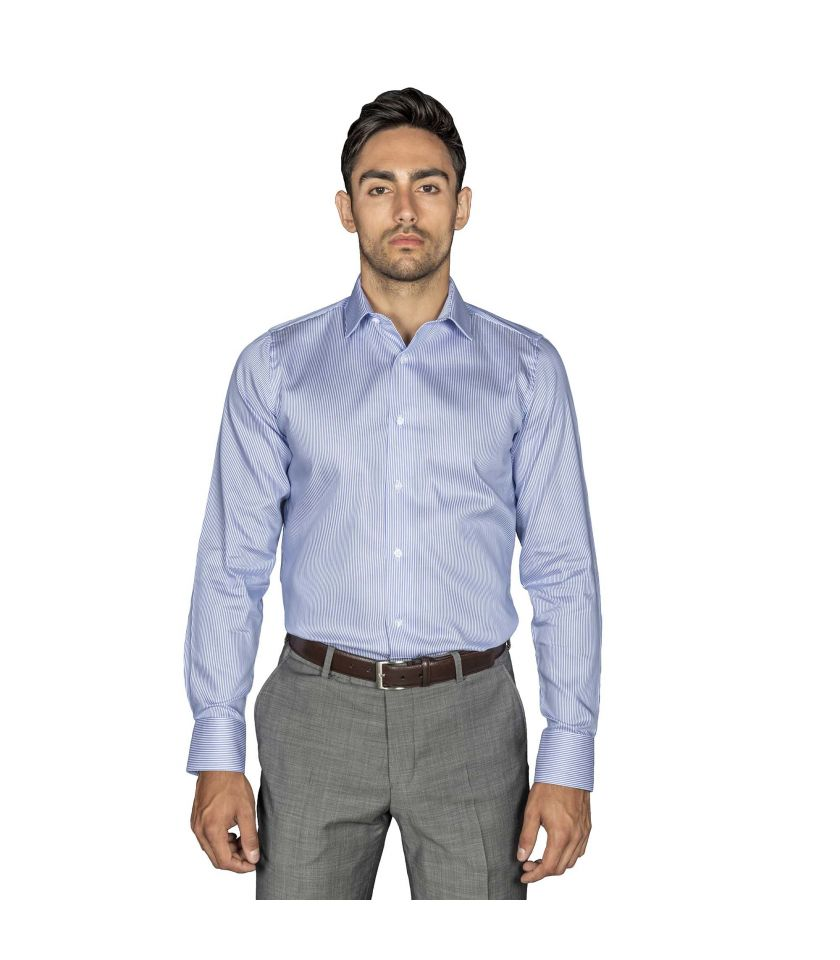 Striped Slim fit dress shirt of cotton