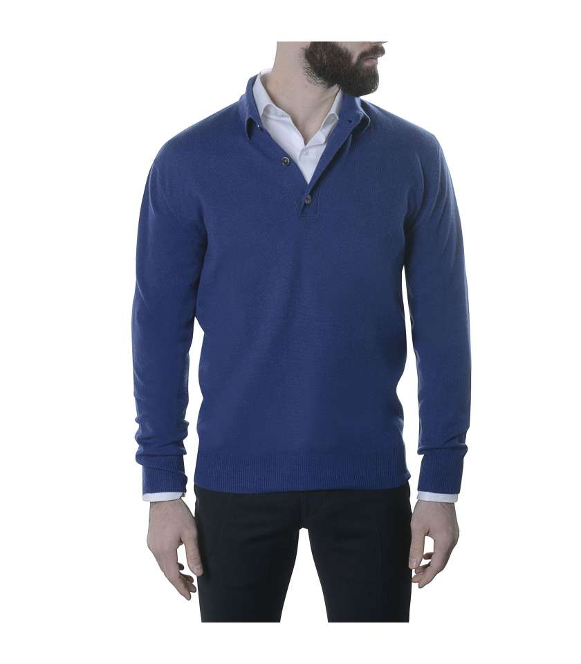 Polo Neck - BLUE