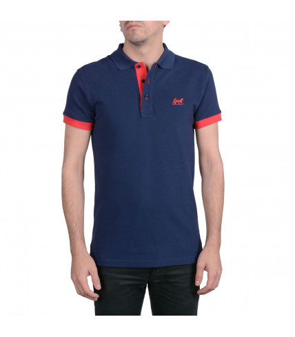 Polo shirt two-tone 100% cotton pique
