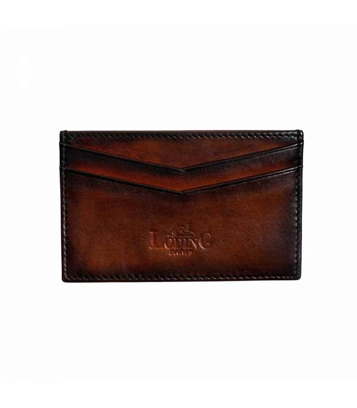 07e562228e Leather cardholder in pure calf leather from Italy with hand patina.