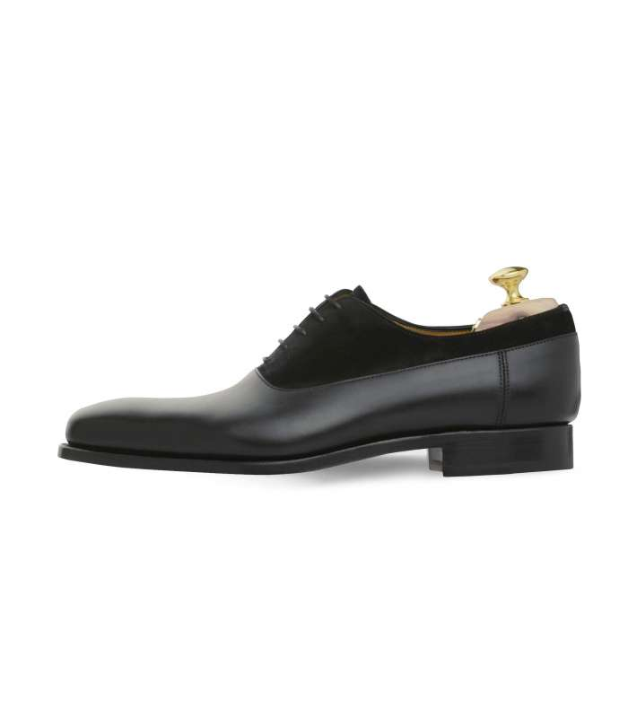 Balmoral Oxford Shoes With Calf Leather And Suede Goodyear Welted