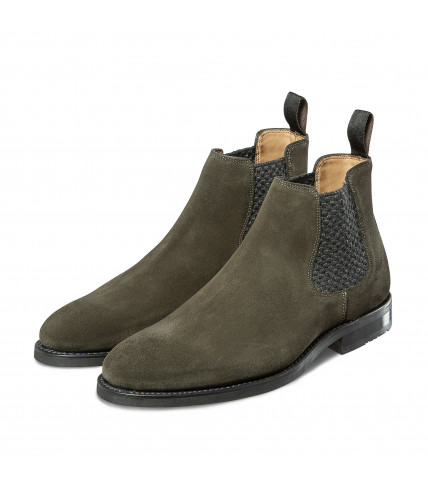 Suede Chelsea Low Boots 381 - Green