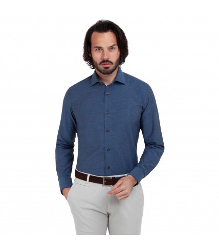 Chambray Slim fit dress shirt