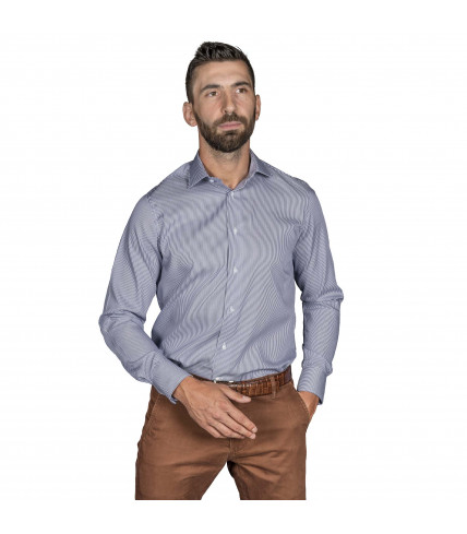 Non iron Classic Fit striped shirt cotton