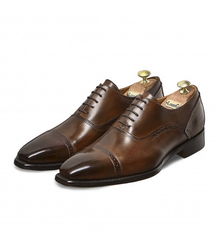 Oxford Shoes with perforated stiches Iseo 386 - Armagnac