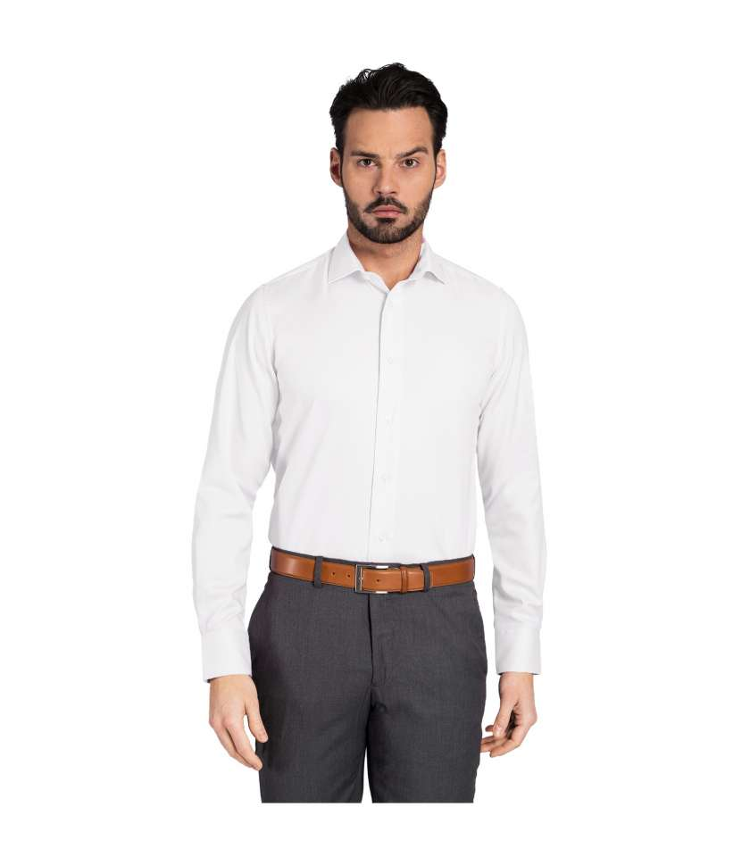 8234fccfa French cuffs regular fit plain dress shirt crafted in non iron ...