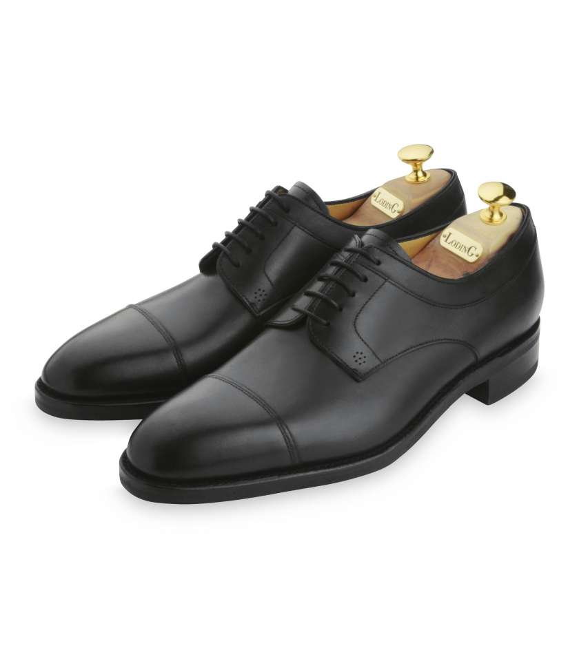 0075c43bb5c0d Calf leather derby shoes. Goodyear welted gum sole.