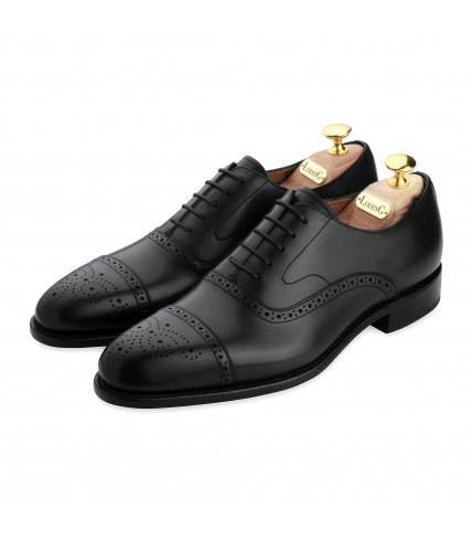 Oxford Brogue with perforated toe-cap Newton 316 - Black