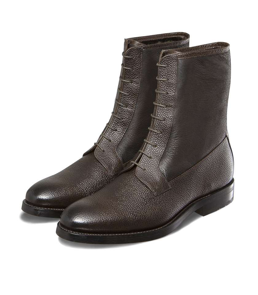 Balmoral boots with fur