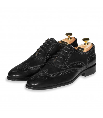 Flexible Brogue Oxford Lord 302 - Black